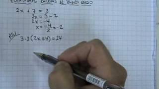 PSU Matemática: Ecuaciones enteras de primer grado