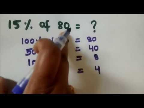 Simple way to find percentages in few secs - Telugu