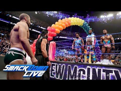 The Bar & Drew McIntyre crash Kofi Kingston's WWE Title celebration: SmackDown LIVE, April 9, 2019