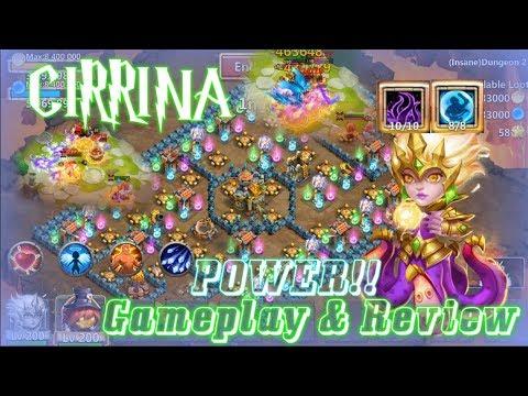 Insane Damage! 8Bulwark Cirrina Full Review Gameplay - Castle Clash