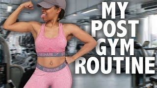 What I do AFTER The Gym! ► Post Workout Routine