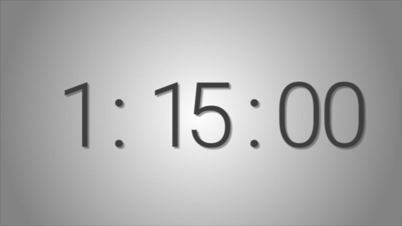 75 minutes  1 hr  15 min   countdown timer