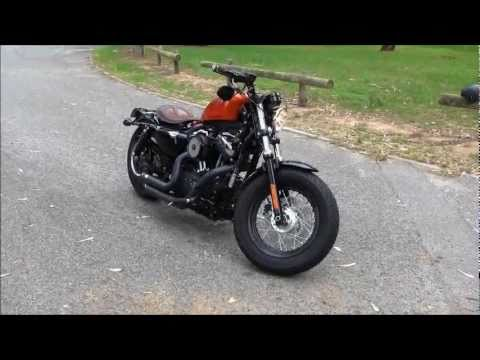 Harley Davidson Forty Eight with Vance and Hines Short Shots (LOUD BAFFLES).