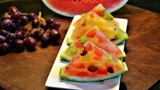 Fresh Fruits Jello Dessert | By Neetu Suresh