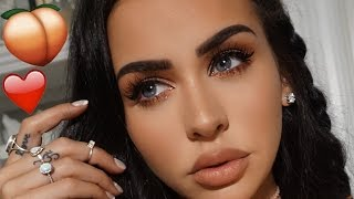 PEACHY VALENTINE'S DAY MAKEUP 2017 | Carli Bybel