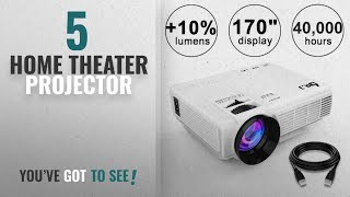 Top 5 Home Theater Projector [2018]: DR.J (2018 Upgraded) +10% Lumens 4Inch Mini Projector with