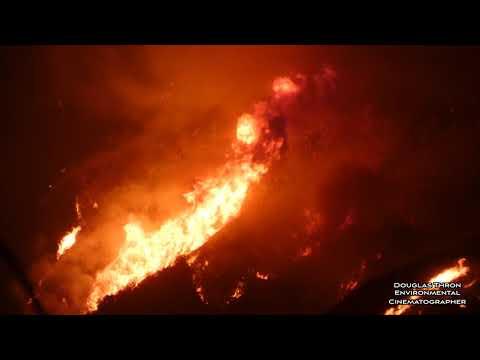 Thomas Fire - Huge Flames Santa Barbara California - By Douglas Thron December 13, 2017