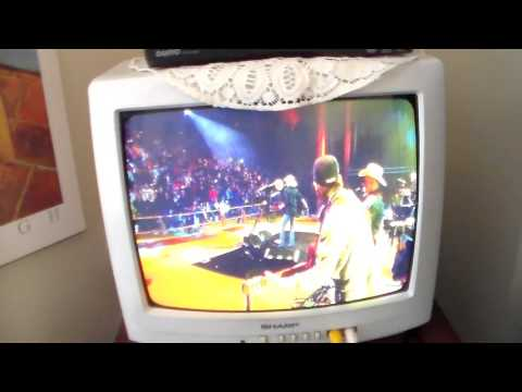 Sanyo DVD player from Walmart playing Chattahoochee by Alan Jackson