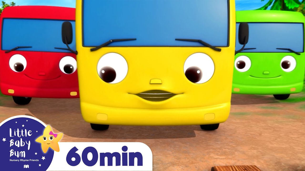 10 Little Buses +More Nursery Rhymes and Kids Songs | Little Baby Bum