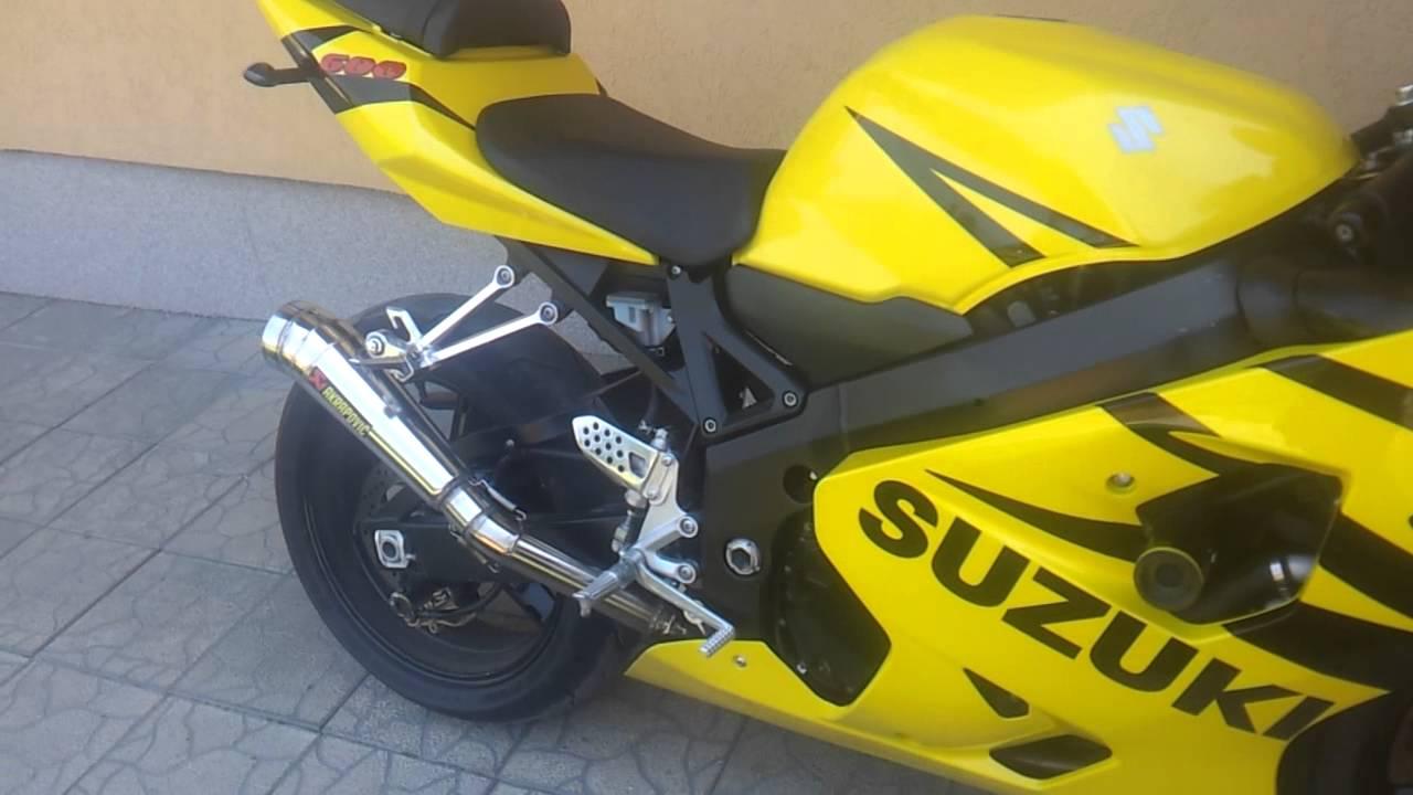 Suzuki Gsxr 600 k4 akrapovic  YouTube