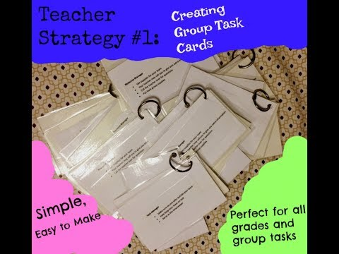 Student Groups Strategy: Task Cards
