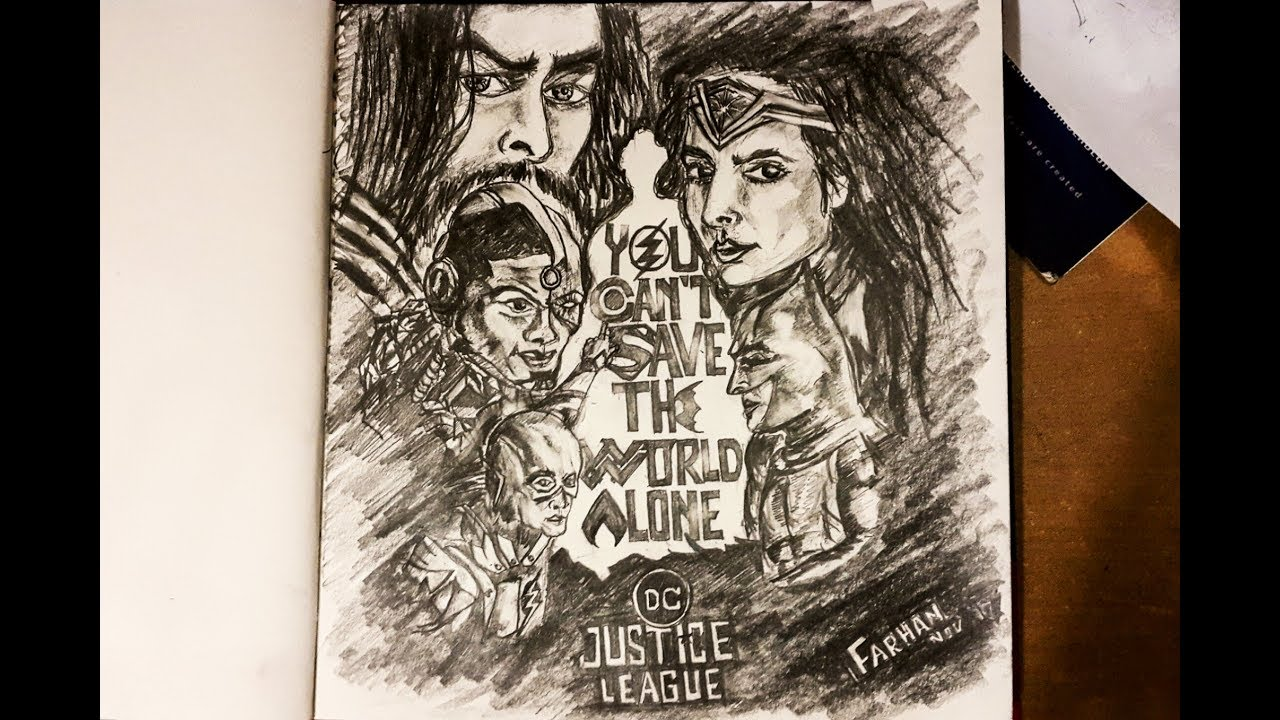 Justice League Pencil Sketch 2017 Speed Drawing Superman Batman Wonder Woman The Flash Youtube Welcome to the one and only amino for everything league of legends + riot games! justice league pencil sketch 2017