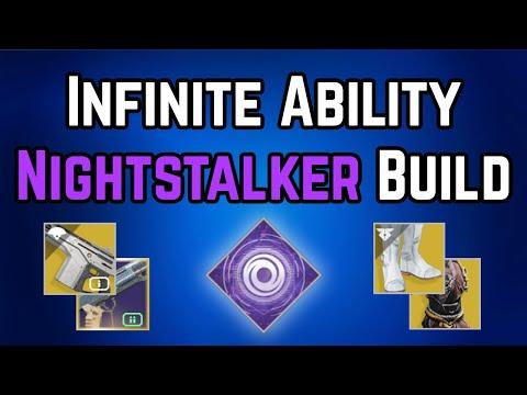 Infinite Ability Nightstalker Hunter PvP / PvE Build (Destiny 2 Shadowkeep)