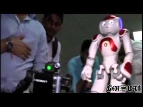 Talking RoboT in Bangalore Attracts Public Attention - Dinamalar April News
