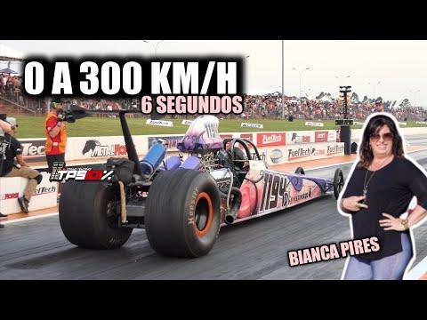 🚦DRAG LIGHT ASPIRADO NITRO 🚦 0 A 300 Km/h Em 6s  Bianca Pires Com Seu RECORDE PESSOAL No VELOPARK