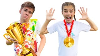 Nastya and Artem participate in an active competition