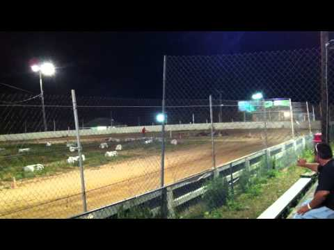 Snydersville Raceway, 7-6-12, Feature Race, Briggs Junior Class, Video #3