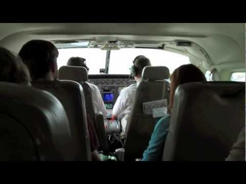 Charter plane to Madikwe, South Africa - spinning around the