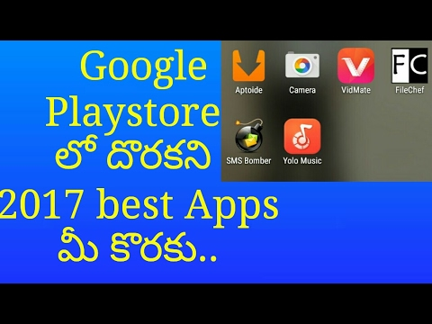 2017 Top 6 Best Android Apps not available on Playstore || Telugu