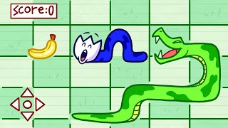 Nate Got Himself Into An Dangerous Snake Game | Animated Cartoons Characters | Animated Short Films
