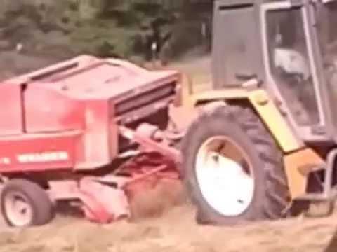 andénage avec stoll et presse welger et tracteur renault