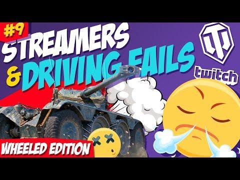 #9 Streamers & Driving Fails | Wheeled Vehicles Edition | World of Tanks thumbnail