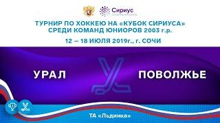 Хоккейный матч. 17.07.19. «Урал» - «Поволжье»