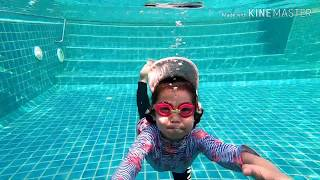 미세먼지와 신종 코로나로 무료한날 수영장에서 수영 하면…