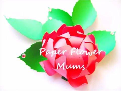 Paper Flowers- Mums tutorial