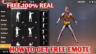 HOW TO GET FREE EMOTE IN FREE FIRE || HOW TO GET FREE DIAMONDS IN FREE FIRE 100℅ REAL NO FACK