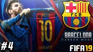 FIFA 19 Barcelona Career Mode EP4 - Champions League Begins!! Messi Hat-trick!!