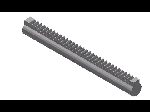 How to design rack and pinion gears in inventor