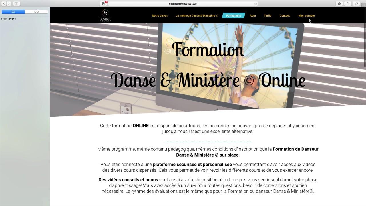 tuto abonnement Destinée Dance School