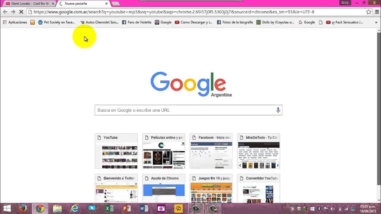 como descargar videos de youtube en mp3 google chrome