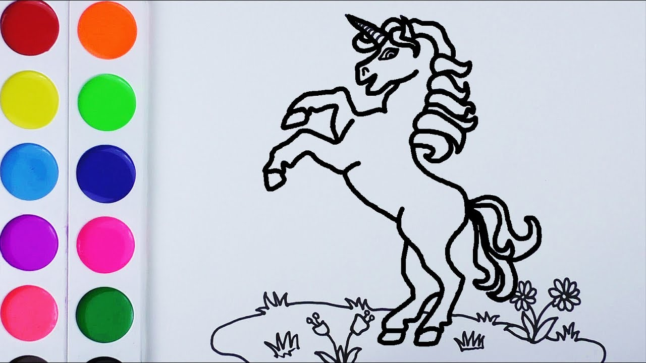 Como Dibujar y Colorear Un Unicornio de Arco Iris - Arte y Color ...