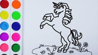 Como Dibujar y Colorear Un Unicornio de Arco Iris - Arte y Color Para Niños / FunKeep 77