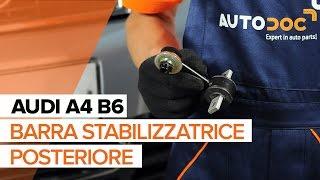 Montaggio Biellette Barra Stabilizzatrice posteriore e anteriore AUDI A4 (8E2, B6): video gratuito