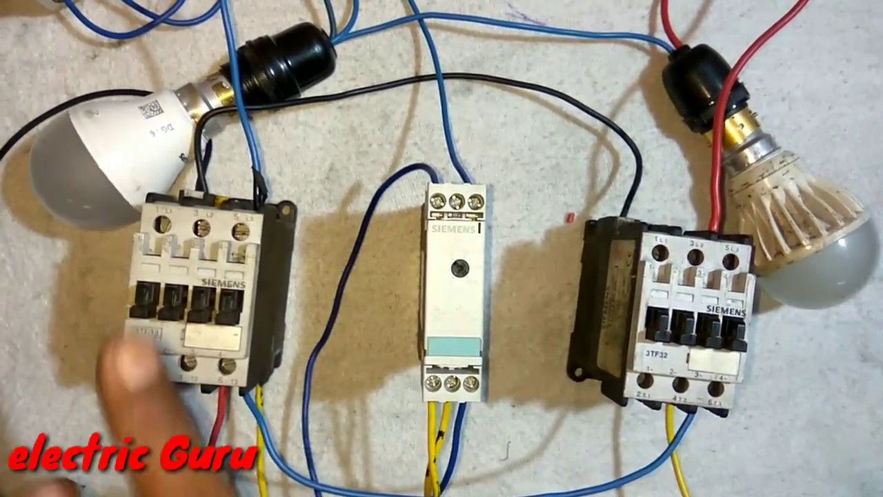 Basic Working Of Star Delta Timer Wiring Diagram Motor Electric Guru