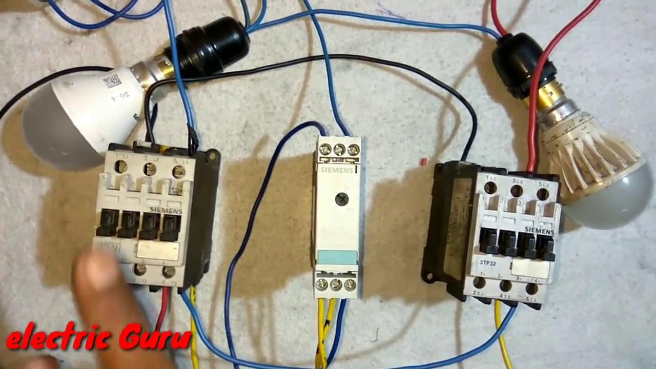 basic working of star delta timer star delta starter control wiring diagram  [ 1280 x 720 Pixel ]