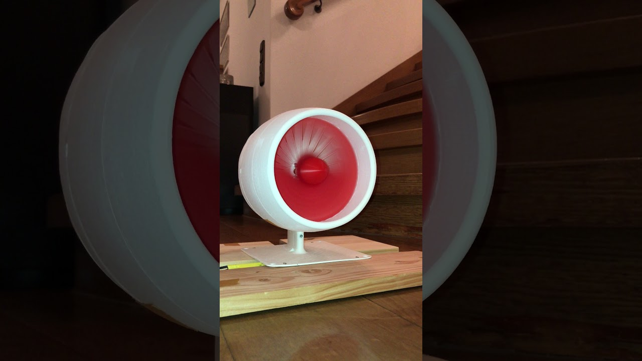 3D Printed Turbo Fan testing at 11000 rpm