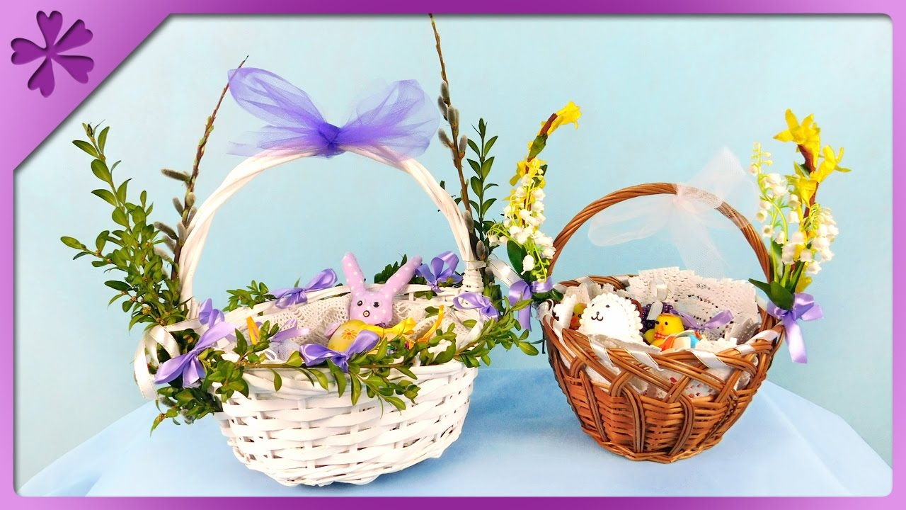 Diy How To Decorate An Easter Basket Eng Subtitles Speed Up 334