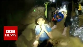 Thailand cave: New video shows boys in 'good health' - BBC News