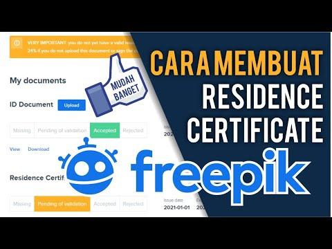 Cara Membuat Residence Certificate Freepik 2021