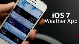 iOS 7 - Weather App On iPhone 5