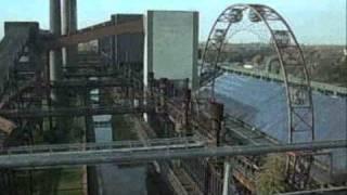 blick vom dach kokerei zollverein in essen