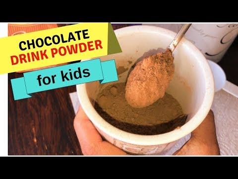 HEALTHY Homemade CHOCOLATE DRINK POWDER For Kids  + HOT CHOCOLATE DRINK & COLD MILKSHAKE RECIPE