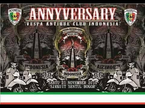 Vespa Antique Club Indonsia Anniversary