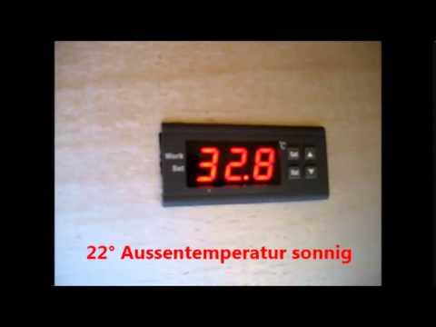 digital temperaturregler thermostat mit betriebsanleitung youtube. Black Bedroom Furniture Sets. Home Design Ideas