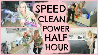 DAILY CLEANING ROUTINE  |  POWER HALF HOUR  |  SPEED CLEANING