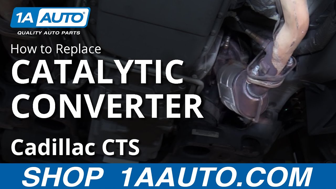 how to replace passenger side catalytic converter 03 07 cadillac cts 1a auto [ 1280 x 720 Pixel ]